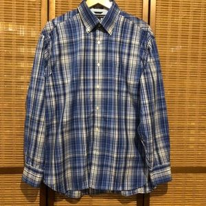 Tommy Hilfiger blue/white long sleeve button down